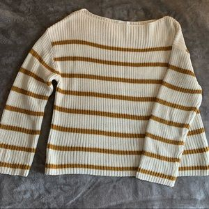 NWOT! H&M | Mustard Stripe Sweater